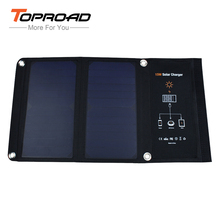 TOPROAD 15W Solar Charger Portable Foldable Solar-panel Battery Bag USB Charging for Cellphones mp3/4 Travel Outdoor Power Bank