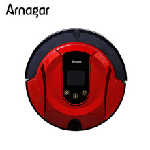 Arnagar Q1 Mini Vacuum Cleaner Robotic Vacuum Cleaner for Home Double Roling Brush,Wet Dry Vacuum Mop,Auto Charge Sweeping Robot