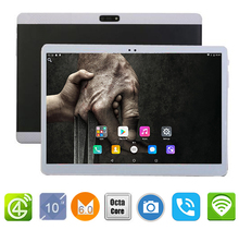 DHL free shipping Android Tablet PC 10 inch Dual SIM 3G WCDMA 4G LTE Child Tablet 10.1 4GB RAM 64GB ROM Support Play store +gift(China)