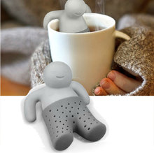 Hot Cute 10pc Mr Tea Infuser / Creative Tea Filter / Convenient Tea Strainer / Food Grade Silicone Material(China)