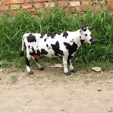 new big simulation cow toy creative handicraft cow model gift about 52x31cm