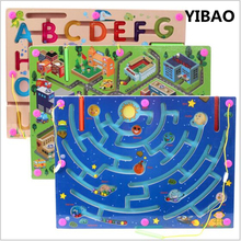 3 Style New Walking Beads Magnetic Maze Toy Transport City Planning a Variety of Child Puzzle childhood educational Toys(China)