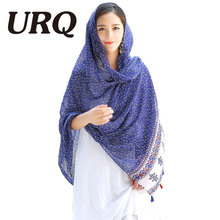 2016 Brand Scarf New Autumn Winter Style Women Autumn Viscose Long Cotton Pashiminas Scarf Shawl V9A18591