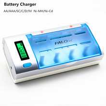LCD Display Battery charger 4 Slots Multi Usage Battery Charger Charge for AA/AAA/SC/C/D/9V Ni-MH/Ni-Cd rechargeable batteries