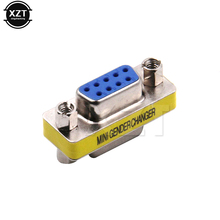 10pcs/lot Hot Sale DB9 Series port adapter connector conversion head VGA 9 Hole on the connector RS232(China)