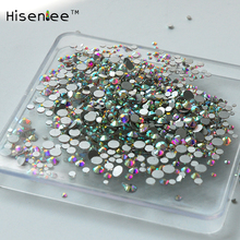 Mixed size Clear Crystal AB Rhinestones Nail Art Rhinestones For Nails 3D Nail Art Decorations Manicure Accessories 1000pcs