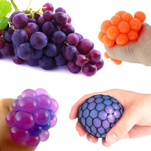 Anti Stress Ball Face Reliever Grape Ball Autism Mood Squeeze Relief Healthy Funny Tricky Toy For Relax Gift Novetly Print(China)