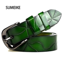 Women Belt Female Strap High Quality Designer Belt Ladies 100% Genuine Leather Jeans Belts For Women
