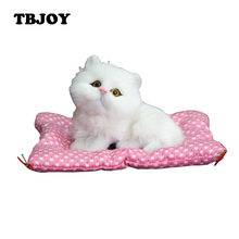 Kawaii Simulation Plush Soft Stuffed Press Sounding Cats Models Dolls Kids Toys for Children Christmas Decoration Gifts