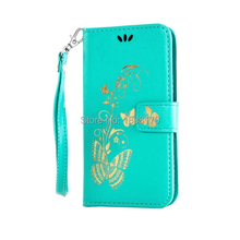 Bling Butterfly Flower Wallet Leather Case For Iphone X I8 8Plus 8 7 Plus For Huawei P9 P10 Glitter Floral Stand Cover 1pcs