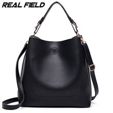 Real Field RF Designer Handbags High Quality Women Bag Ladies Leather Hand Bags Simple Bucket Shoulder Sac With Short Handle 222