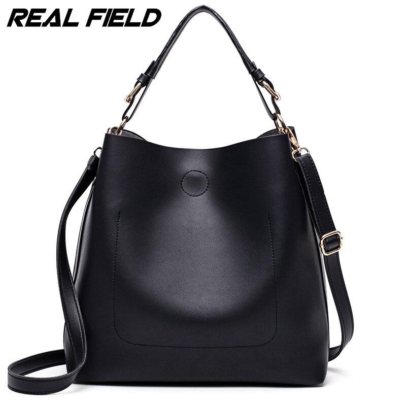 Real Field RF Designer Handbags High Quality Women Bag Ladies Leather Hand Bags Simple Bucket Shoulder Sac With Short Handle 222<br>
