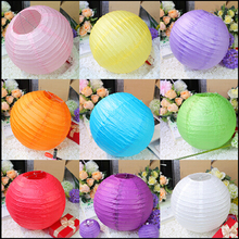 5PCS  20cm Round Chinese Paper Lantern Birthday Wedding Party decor gift craft DIY wholesale retail