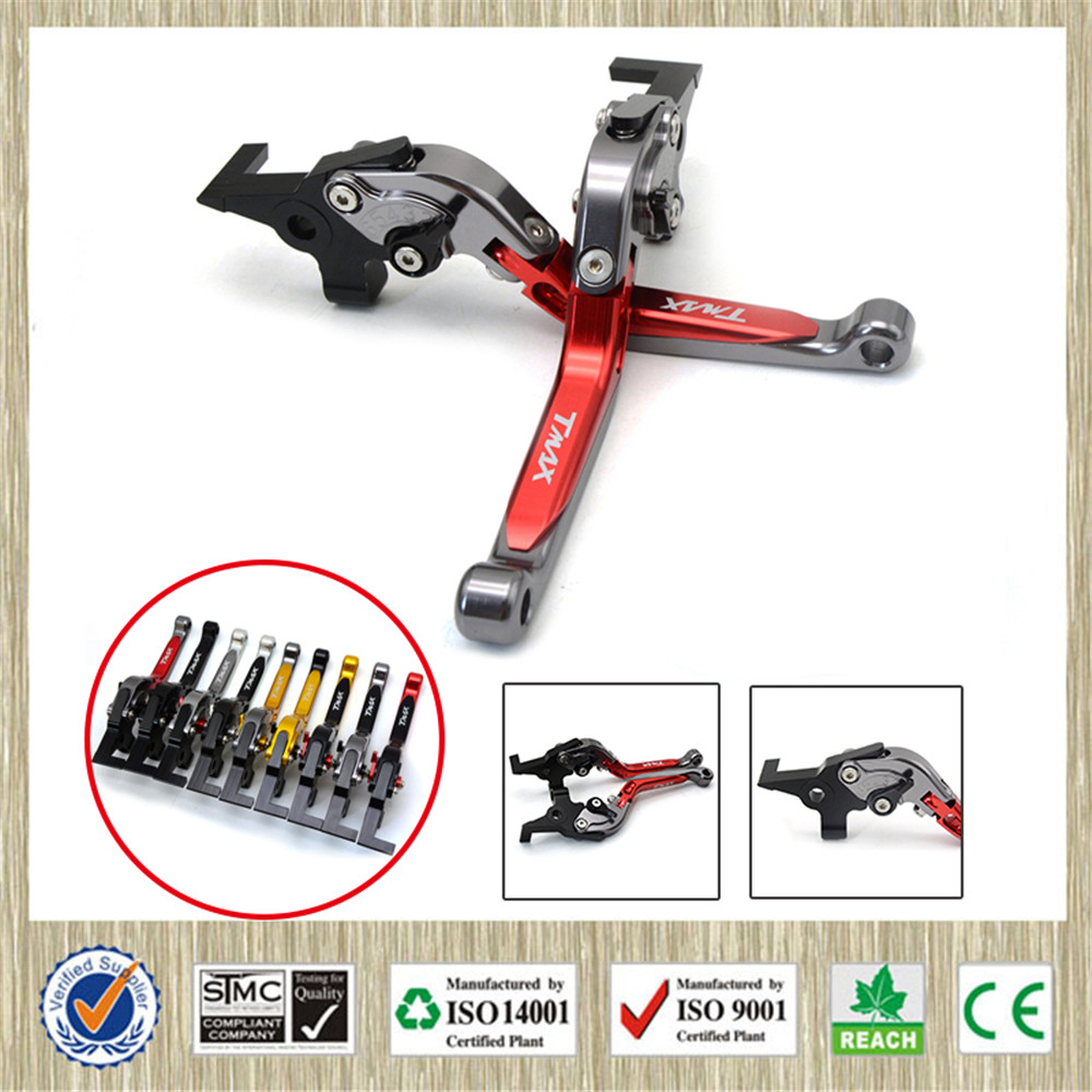 CNC Motorcycle Front Brakes Clutch Levers Adjustable Lever For Yamaha TMAX500 TMAX 500 530 2001 2002 2003 2004 2005 2006 2007 <br>