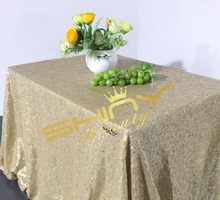 Fatest SHIPPING, 50''*50'' Matte Gold Sequin Table Cloth, Gold Tablecloths, Overlays, Runners Weddings Party Decoration