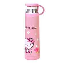 Cute Cartoon Hello Kitty Doraemon Cat Minions Stainless Steel Vacuum Flask Thermos Insulated Water Bottle with Drinking Lid(China)