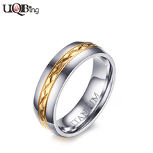 Boutique Store Jewelry Women's Titanium Steel Finger Rings anillos Gold-color Flower Rings For Birthday Gifts(China)