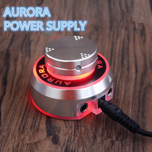 2017 New Mini Critical AURORA Tattoo Power Supply with Knob to adjust voltage Supply Siliver - TPS01#(China)