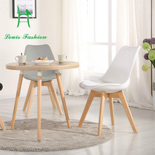 The coffee parlor chair with North European Computer leisure stool IKEA wood table chair white