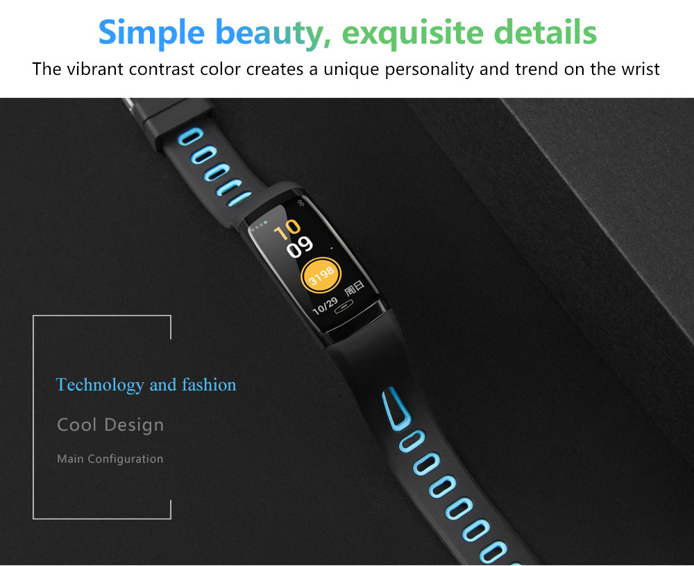 CD09 Smart Wristband Cicret band Watch Heart rate monitor Smartband Pulsometer Sport health Fitness Bracelet tracker for IOS (4)