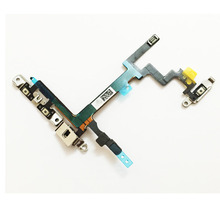 100% New Switch Power Button ON OFF Button Flex Cable Ribbon For iPhone 5 5G Volume Button Key Repair Past(China)