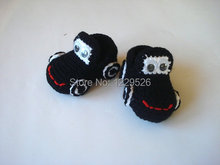 crochet baby shoes, black Cars Baby Booties,  baby booties,  newborn shoes booties