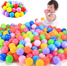 Hot 100pcs 5.5cm Colorful Ball Soft Plastic Ocean Ball Funny Baby Kid Swim Pit Toy Water Pool Ocean Wave Ball Outdoor Sports Toy