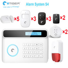 S4 etiger 2015 new security alarm system 433mhz gsm band 850/900/1800/1900mhz alarm system(China)