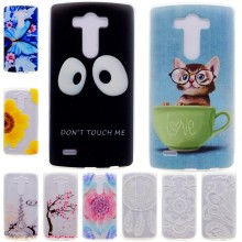 For LG G3 G 3 D855 D850 Cases Silicon Cover Soft TPU Back Shell Cell Phone Case Coque Etui Capinha Cute Case Black Face Flower