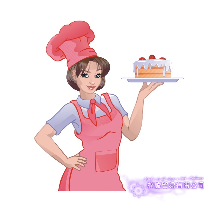 DCTAL Cake Store Girl Decal Cute Girls Glass Colorful Wall Sticker Coffee Bakery Store Decal Cloakroom Showcase Decor
