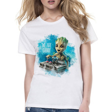 Guardians of the Galaxy 2 baby groot women T-shirt Anime funko pop groot female t shirt top funny Tshirt white tops tees