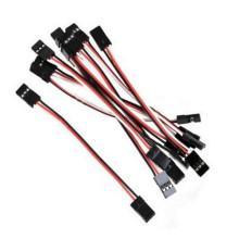 10Pcs 10cm 26AWG to Male JR Plug Servo Extension Lead Wire Cable