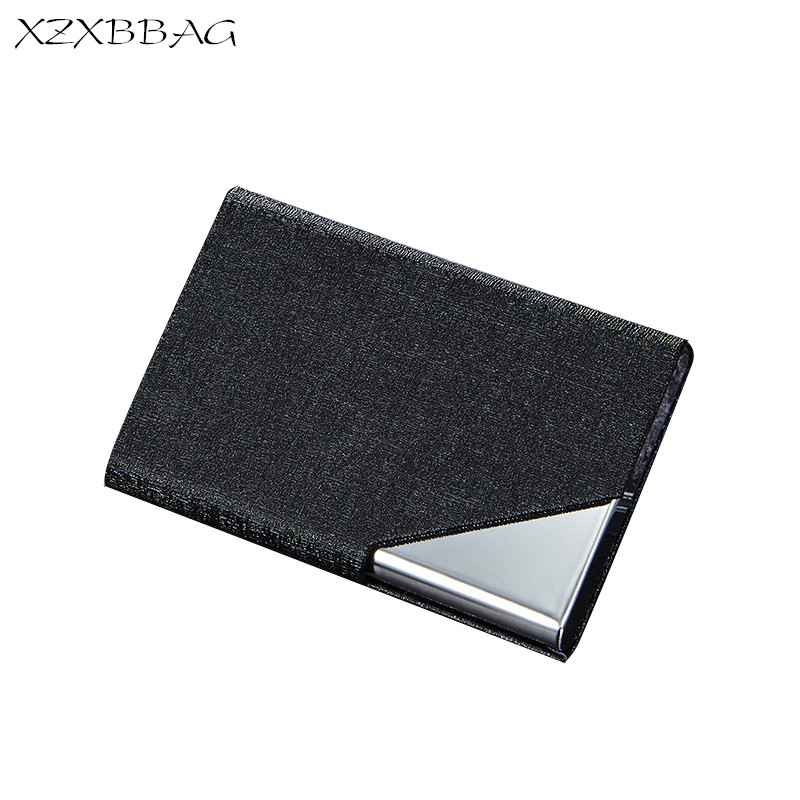 XZXBBAG Creative Stainless Steel ID Credit Card Holder Box Men Women Bank Card Case Cover Unisex Business Name Card Protector