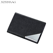 Buy XZXBBAG Creative Stainless Steel ID Credit Card Holder Box Men Women Bank Card Case Cover Unisex Business Name Card Protector for $3.07 in AliExpress store