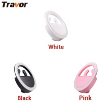 Travor PF36II USB Selfie LED fill light Universal Portable LED Ring Light Lamp Photography Flashes foriPhone Android Smart Phone