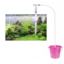 Aquarium Siphon Syphon Fish Tank Cleaner Aquarium Gravel Sand Cleaner Vacuum Siphon Water Filter with 8L/min(China)