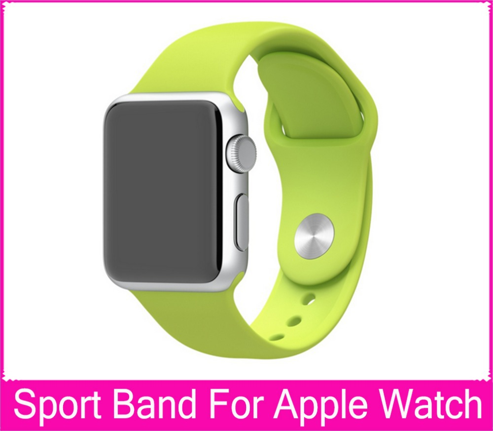 Luxury Silicone Rubber Sport Bands For Apple Watch 42mm 38mm Pin-And-Tuck Closure 1:1 Original  Sport  Watch band<br><br>Aliexpress