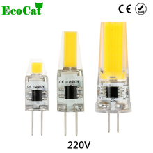 ECO CAT 1pc Dimmable COB LED Bulb G4 LED Lamp 1w 2W 3w AC 220v LED G4 COB Light Chandelier Lights Replace Halogen G4 Lamp