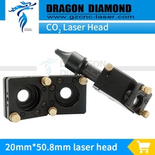 Hot sale CO2 Laser Head Set 1pcs laser head+2pcs mirror mount for D20mm D25mm reflective mirror D20mm*50.8mm laser lens