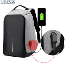 LHLYSGS Brand Unisex Travel Fashion Cool Anti-theft Backpack Multifunction Fashion USB External Charge Laptop School Backpack