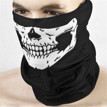 Outdoor Motorcycle Bicycle  Masks Skeleton Multi Mask Scarf Half Face Mask Cap Neck Ghost
