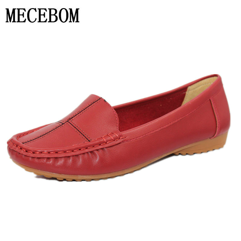 2018 Handmade  leather flat shoes women female casual shoes flats shoes slip on leather car-styling shoes footwear 889W<br>