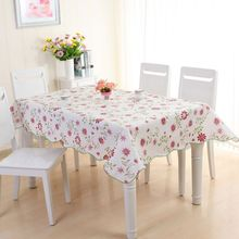 137*180cm Wipe Clean PVC Vinyl Tablecloth Dining Kitchen Table Cover Protector(China)