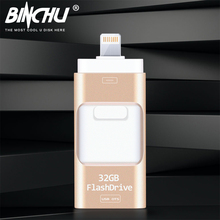 Compatible iOS10 all versions OTG Usb Flash Drive Pen Drive Pendrive Usb Stick 8GB 16GB 32GB 64GB 128GB For iPhone 5/6/7/ipad