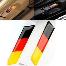 2Pcs Car Styling 3D Sticker Lift Wrench Handle Seat Insert Trim Cover For Volkswagen VW Golf 5 6 MK5 MK6 GTI Germany Flag Emblem(China)