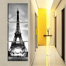 3pcs/set DIY Frameless Pictures Paint By Numbers Digital Oil Painting Eiffel Tower Buildings On Canvas Wall Decor HD0109-4
