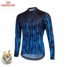 FASTCUTE Winter Thermal Fleece Cycling Clothing Keep Warm Maillot Ropa Ciclismo Invierno Bicycle Wear Winter MTB Bike Jerseys(China)