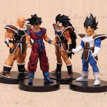 NEW hot 13cm 4pcs/set Dragon ball Super Saiyan Son Goku Raditz Vegeta action figure toys collection Christmas