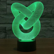 Creative 3D illusion Lamp LED Night Light 3D Abstract Graphics Acrylic lamparas Atmosphere Lamp Novelty Lighting home decorate(China)