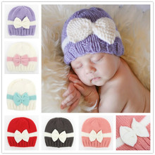 Moeble CROCHET PATTERN Newborn girl hat  Baby photo outfit pattern Hat with bow Knit Infant beanie Handmade gift Photo Prop H829